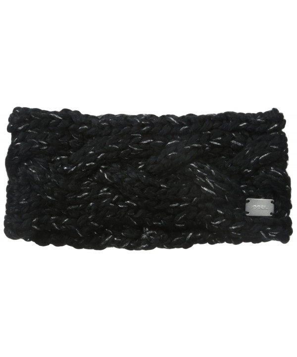Coal Women's The Greer Chunky Hand-Knit Headband - Black - CW11J20HJRN
