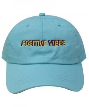 City Hunter C104 Positive Vibes Cotton Baseball Dad Caps 19 Colors - Aqua - C917YZREGI0