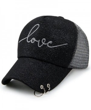 Clearance!! WILLTOO Women LETTER LOVE Baseball Cap Mesh Snapback Hat - Black - CP185YCTAAN