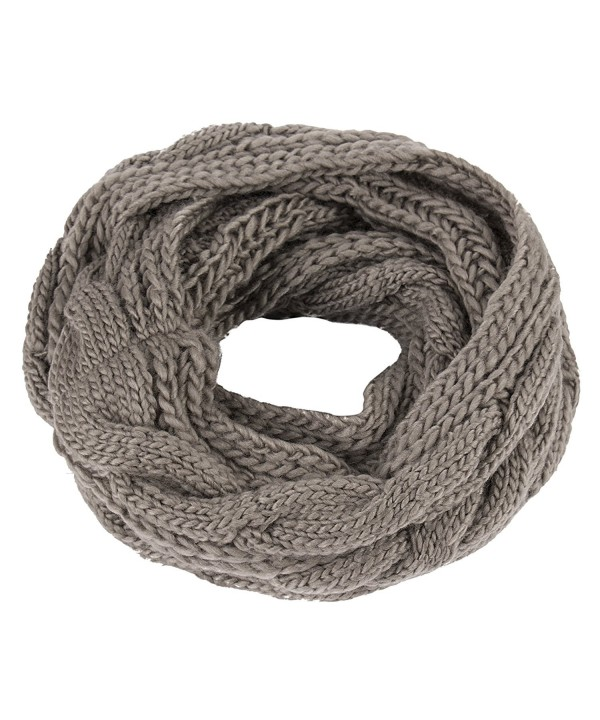 Kaisifei Women Warmer Unisex Soft Knit Cowl Infinity Scarf Shawl Wrap - Dark Gray - CD12MYDQC3R