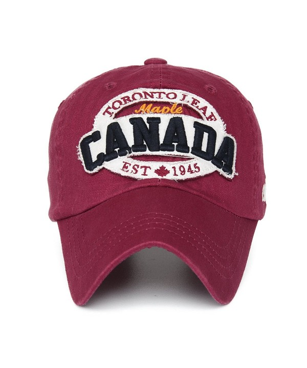 Rayna Fashion Unisex Vintage Trendy Baseball Cap Trucker Hat Golf Travel Hip Hop CANADA Flag Maple - CX11A16P40P