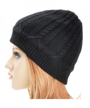 ZLYC Unisex Winter Cashmere Beanie in Men's Skullies & Beanies