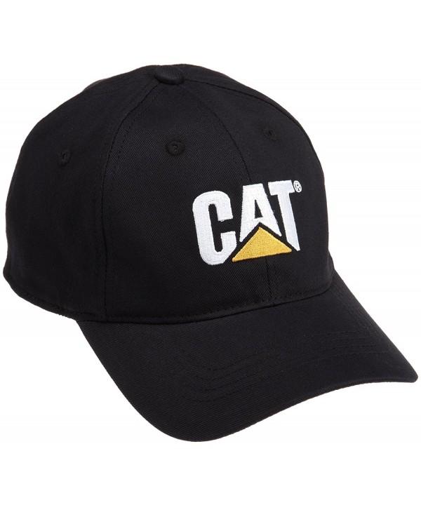Caterpillar Men's Trademark Stretch-Fit Cap - Black - CS114XPLA53