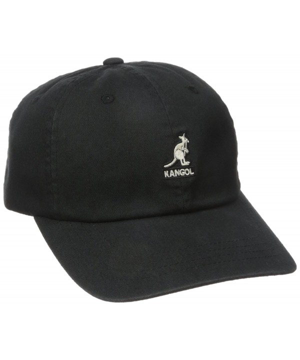 Kangol Men's Washed Baseball - Black - CB12N9R0WBU