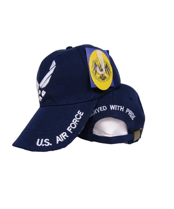 Air Force Wings Served With Pride Retired Blue Hat Ball Cap - CJ185WCUA9W
