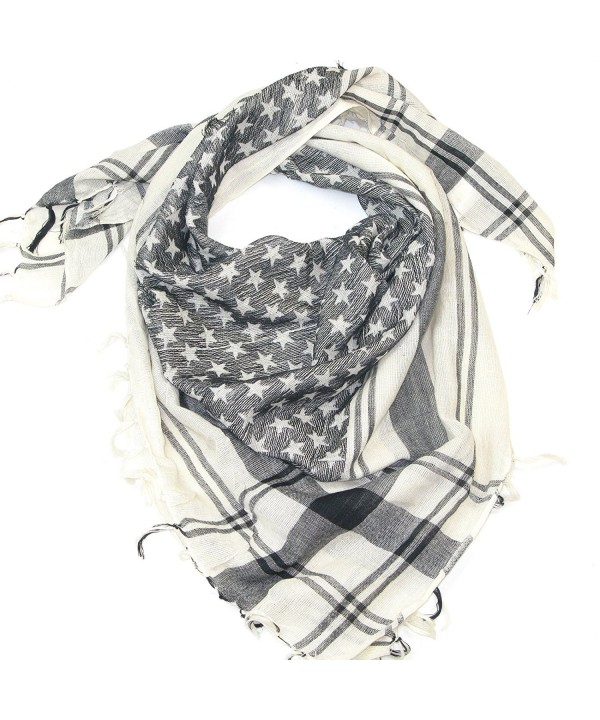 Lovarzi Star Scarf for Women and Men - Try trendy cotton star square scarves - Black & White - CU116KA8HFP
