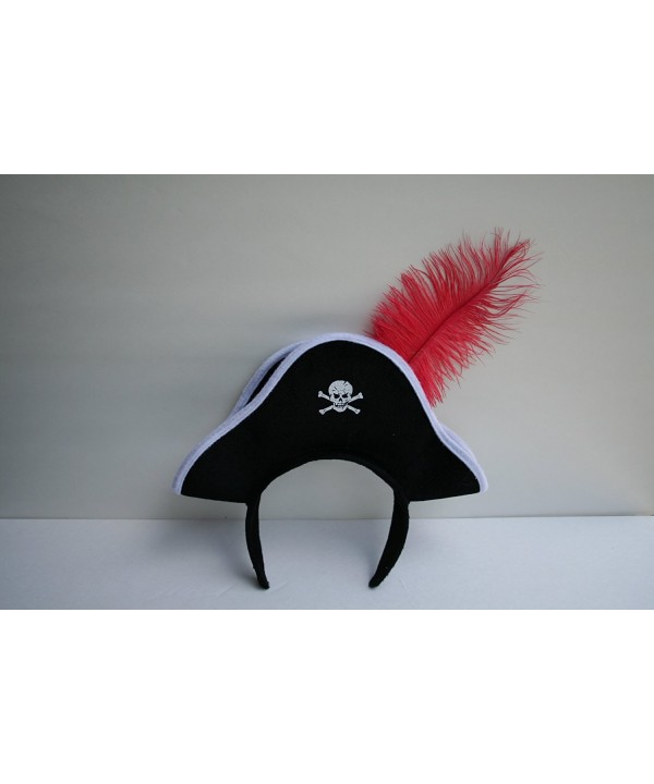 Jacobson Hat Company Pirate Headband with Feather - C8116DK4MG1