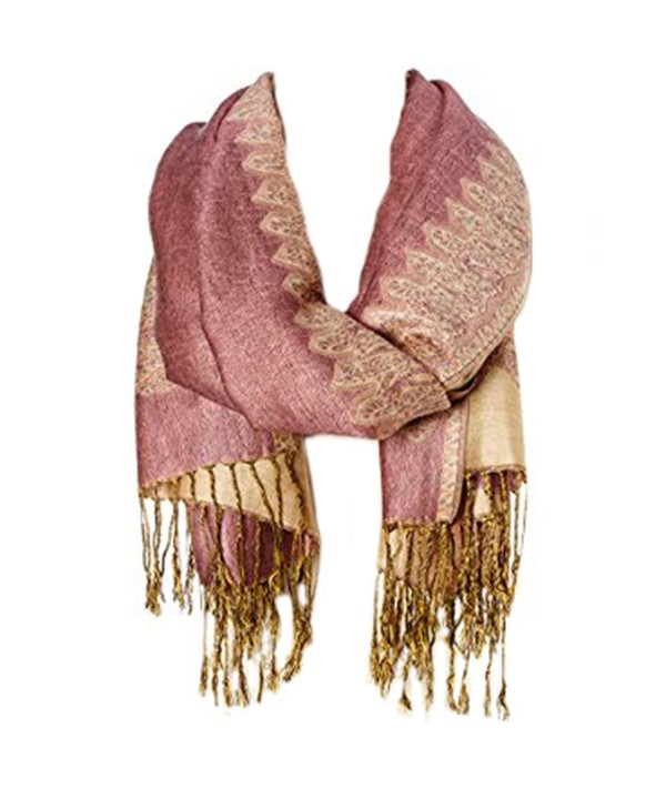 Winter Scarves Thick chunky long Pashmina Warm scarf all Colors Fashion Long shawl Big Grid - Puce - CX184XU3898