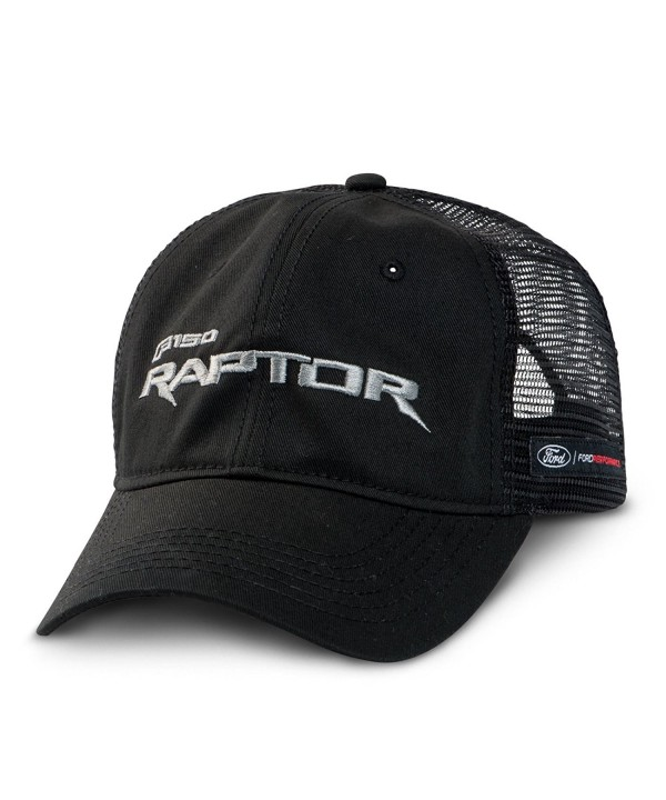 Ford F-150 Raptor Mesh Back Black Baseball Cap - CY12NRJASKS