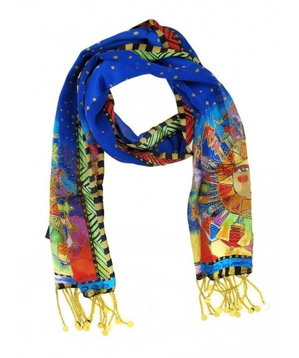 Laurel Burch LBS-130 Authentic Silk Art Scarf- Harmony Under The Sun - C21147H9LI1