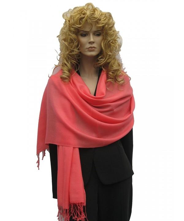 Cashmere Pashmina Group: Solid Pashmina Shawl- Scarf- Wrap & Stole(Regular size) - C2111A5FCUN