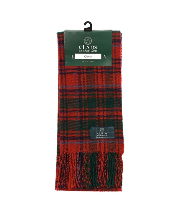 Clans Of Scotland Pure New Wool Scottish Tartan Scarf Grant (One Size) - CP123H44W0V