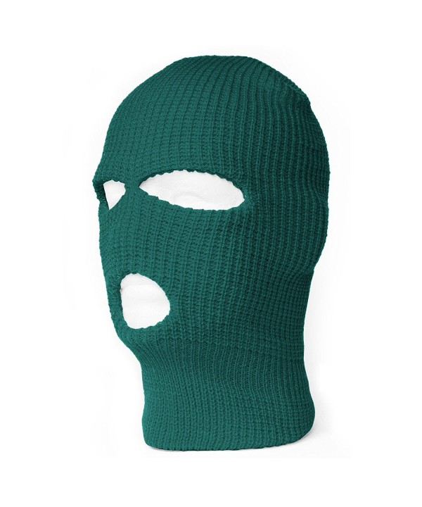 TopHeadwear's 3 Hole Face Ski Mask- Emerlad Green - CO11BGL1AR5