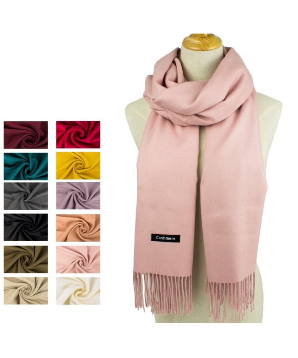Choomon Women Cashmere Scarf Windproof With A Gift Box - Pink - C91858OD0RC