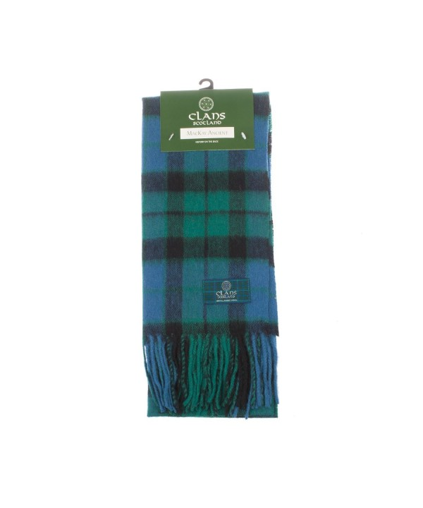 Clans Of Scotland Pure New Wool Scottish Tartan Scarf Mackay Ancient (One Size) - CL123H4EUJ9