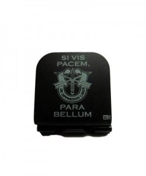 Si Vis Pacem Para Bellum With SF Crest Laser Etched Hat Clip Black - C5128O41487