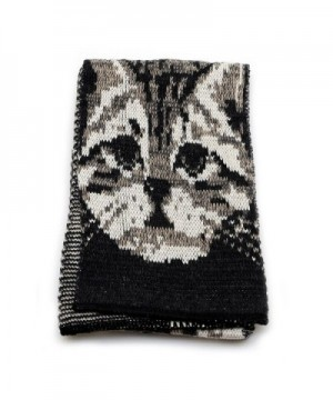 Kitty Cat Scarf Heather Brown