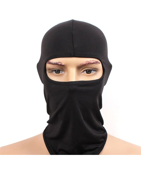 Toplor Balaclava Ski Mask - Winter Face Mask Windproof Thermal Full Face Mask - Black - CU186ZU9LCC