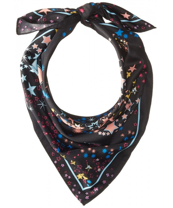 BCBGeneration Women's Starbust Square Scarf - Black/Multi - CT12O4RLAJP