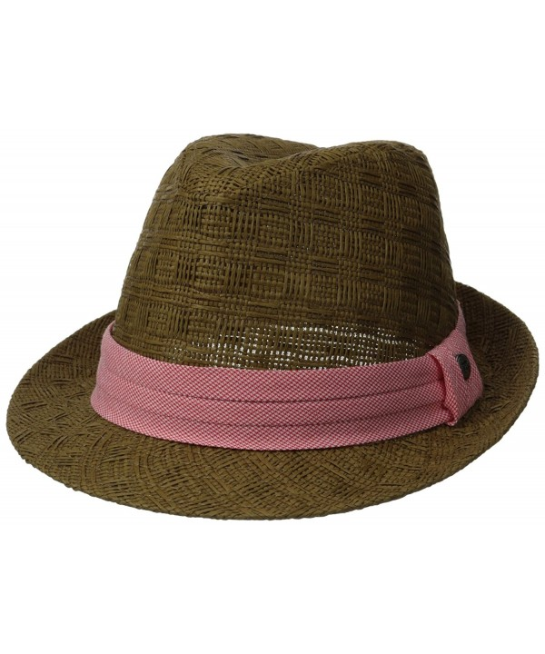 Haggar Men's Houndstooth Fedora - Brown - CI11UEL35P9