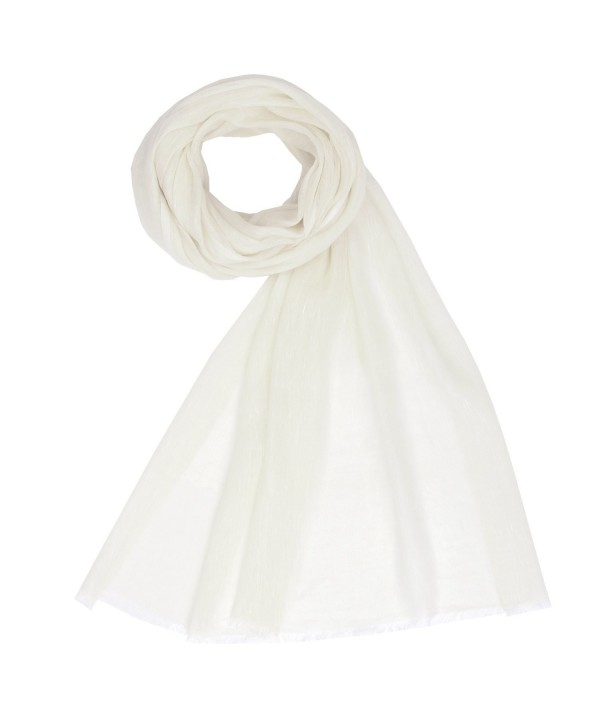 KASHFAB Kashmir Fashion Cashmere Pashmina - Off White - CO12MO2NP7X