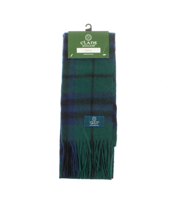 Clans Of Scotland Pure New Wool Scottish Tartan Scarf Austin (One Size) - CC123H4E8UF