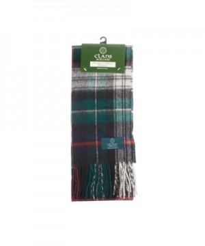 Clans Of Scotland Pure New Wool Scottish Tartan Scarf Mackenzie Dress (One Size) - CP123H4BHYZ