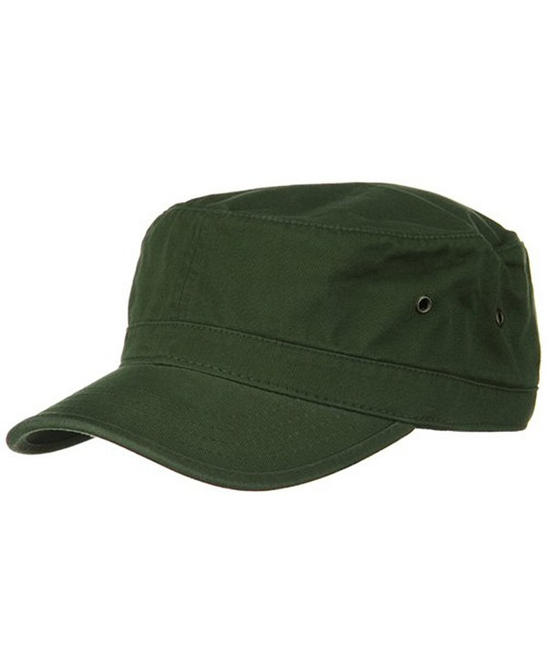 Washed Military Hat-Army Olive W32S37C - CR111XOUTVT