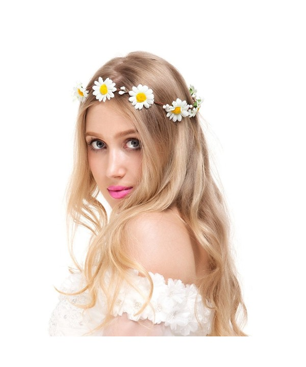 Valdler Exquisite Flower Headband Crown for Wedding Festivals - Style66-Ivory - CS11YNGJDEN