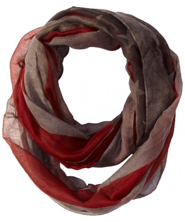 D&Y Women's Distressed American Flag Infinity Scarf - Gray - C6120NP4TNR