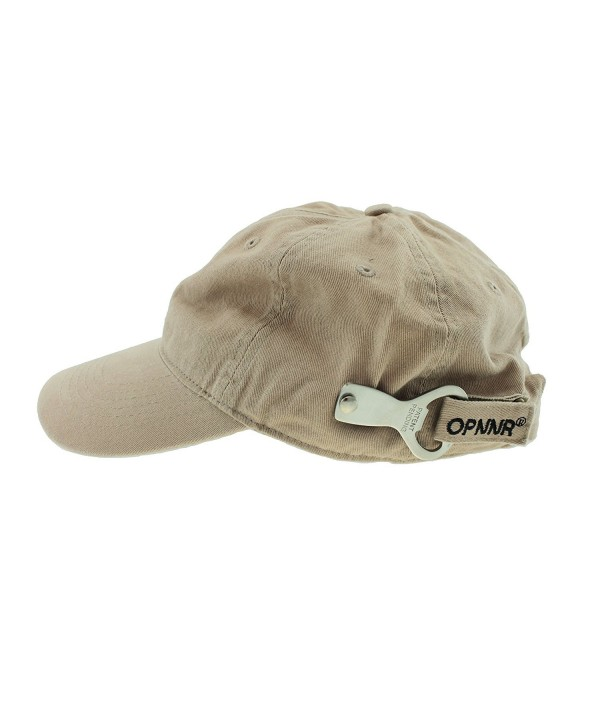 OPNNR Bottle Opener Hat by Thomas Bates - Khaki - C61135MP0TN