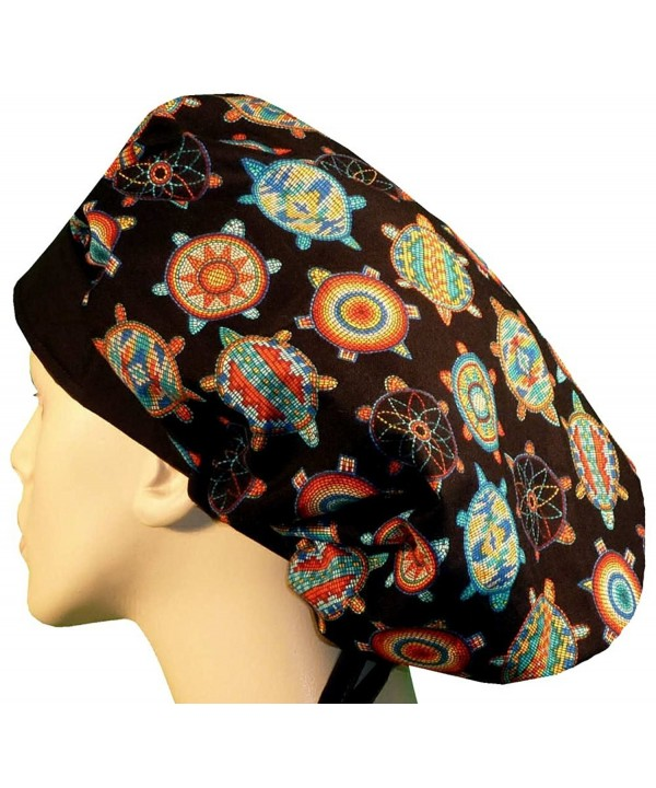 Designer Bouffant Medical Scrub Cap - Beaded Turtles - CO17Y06LTWM