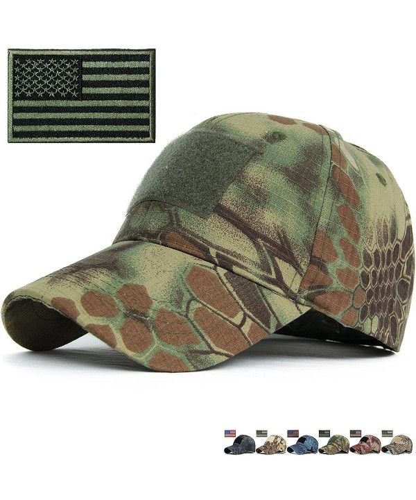 REDSHARKS Snake Camouflage Baseball Hat Fit for Hunting Shooting Tactical Military - Mandrake - C811WZ5CVG1