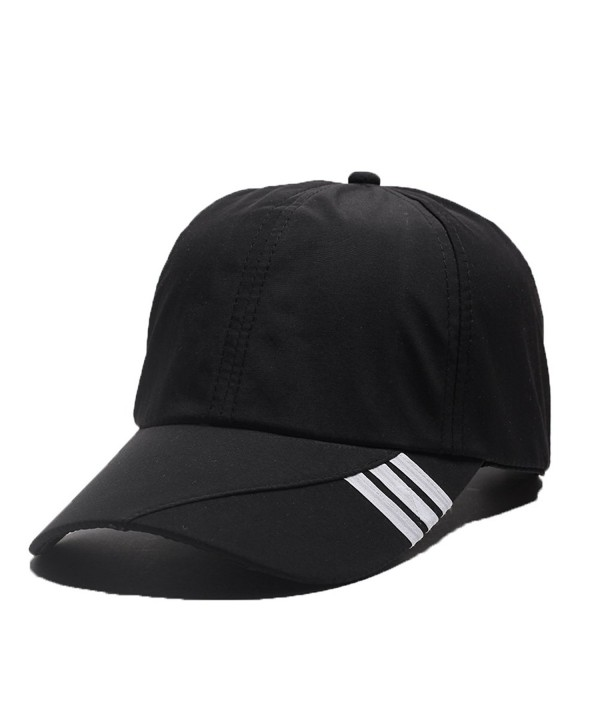 FayTop Unisex Quick Dry Baseball Sun Hat Sun Cap Outdoor Sports Baseball Caps H17B001-US - H17b001-black - C1185X8LGA7