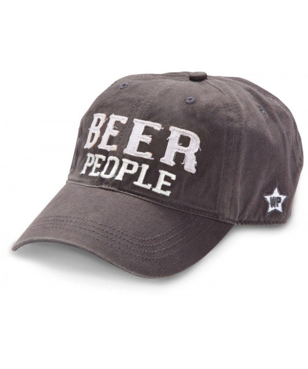 We People Beer People Baseball Cap Hat with Adjustable Strap- Gray - CP12IRDGREL