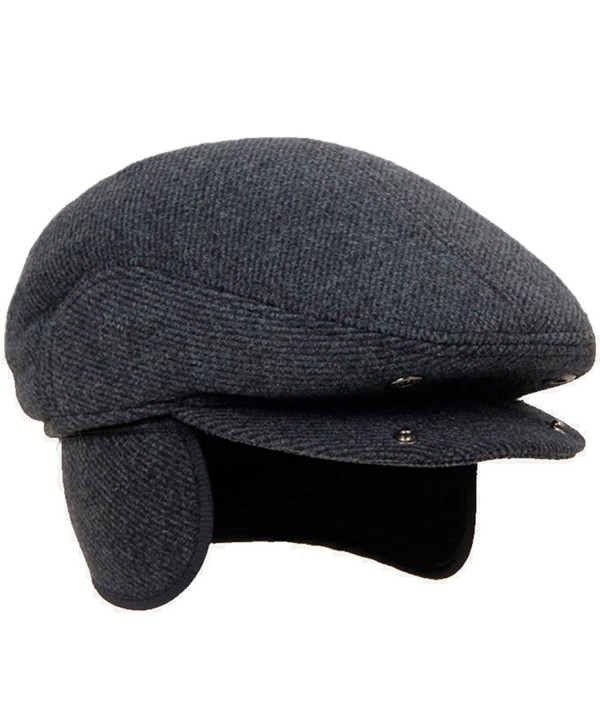 LAN-GO Men's Classic Cap Winter Warm Woolen Gentleman Hat Earflap Hat - CH189DRHM6A