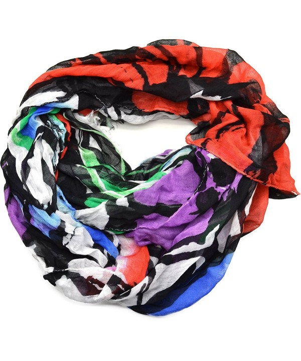 Collection Eighteen Women's Floral Print Fringe Scarf - White Multi - C0126ZSSAC1
