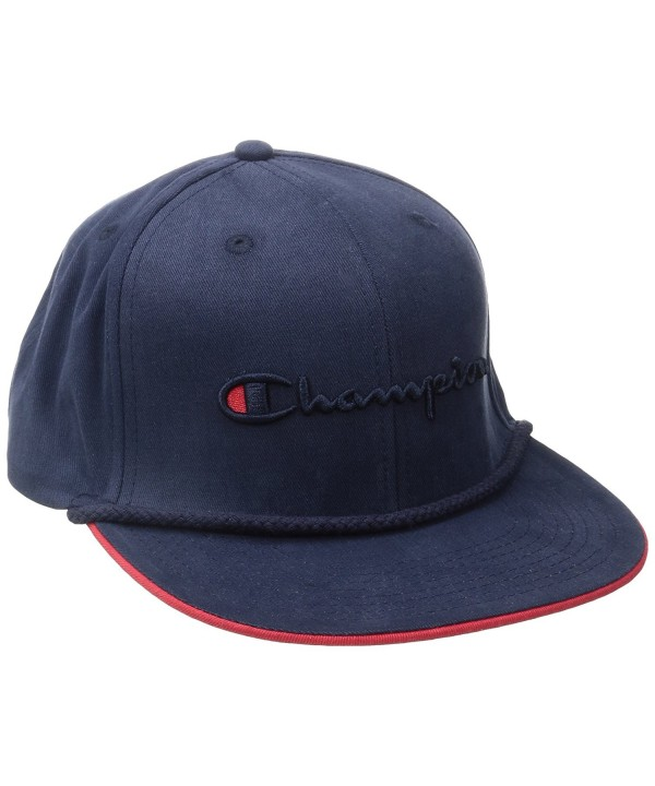 Champion LIFE Men's Baseball Snapback Hat - Navy - Braided Rope - CF12OBKOSQP