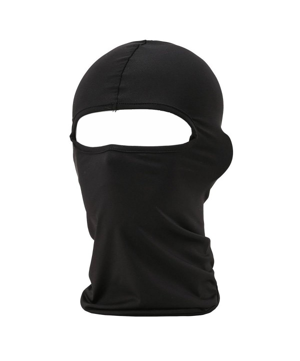Eavacic Balaclava Tactical Face Mask Hood Neck Gaiter 1 Pack - Black - CM12NW6UUL6