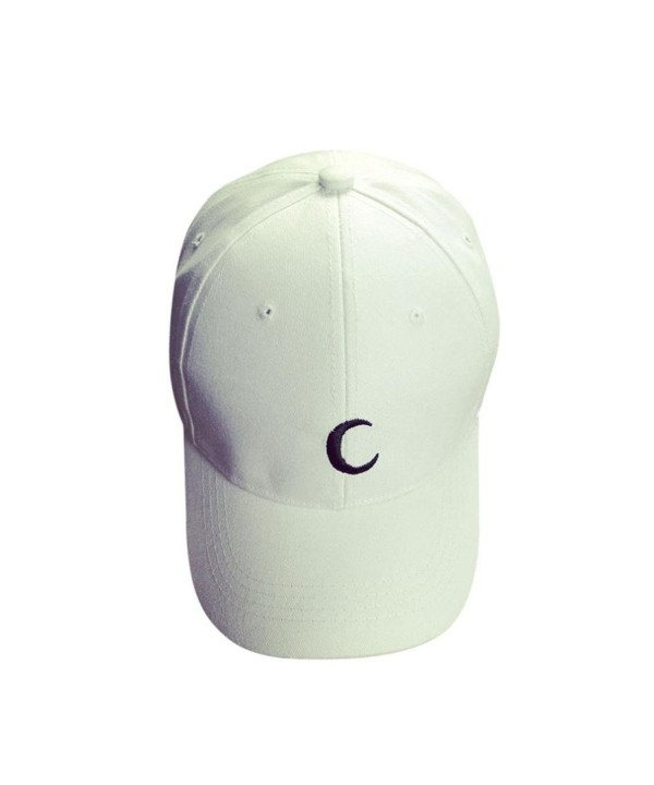 Hat-UPLOTER Embroidery Cotton Baseball Cap Boys Girls Snapback Hip Hop Flat Hat - White - C212LB1SPHX