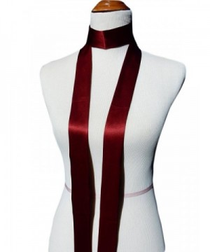 Silky Affection Skinny Necktie Handmade in Fashion Scarves