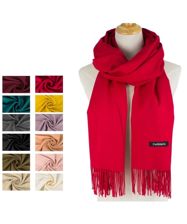 Choomon Women Cashmere Scarf Windproof With A Gift Box - Red - CU1858S8QDZ