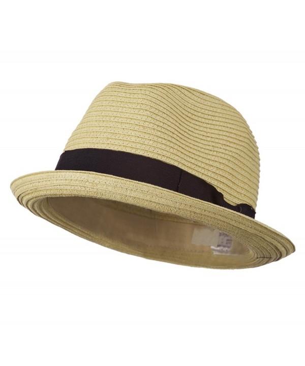 Toyo Paper Straw Fedora Hat - Tan W19S62C - CR11D3H6GST