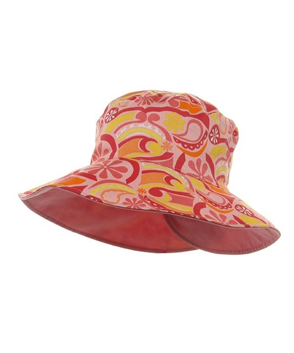 Ladies Floral Reversible Fashion Hat-Pink - CP112GBSY9H