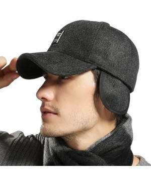 Lined Adjustable Baseball Winter Black in Men's Baseball Caps