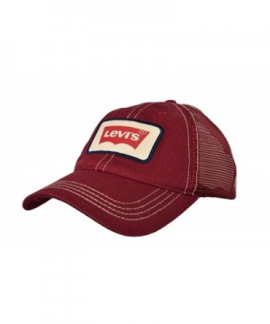 Levi's100% cotton Levi's Men's Batwing Logo Patch Adjustable Snapback Hat - Red - CA184YS6MEW