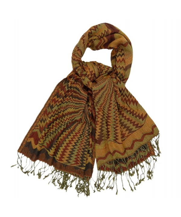 Collection XIIX Women's Multi Patterned Fringed Shawl Wrap - Red Robin - CE110YT3989