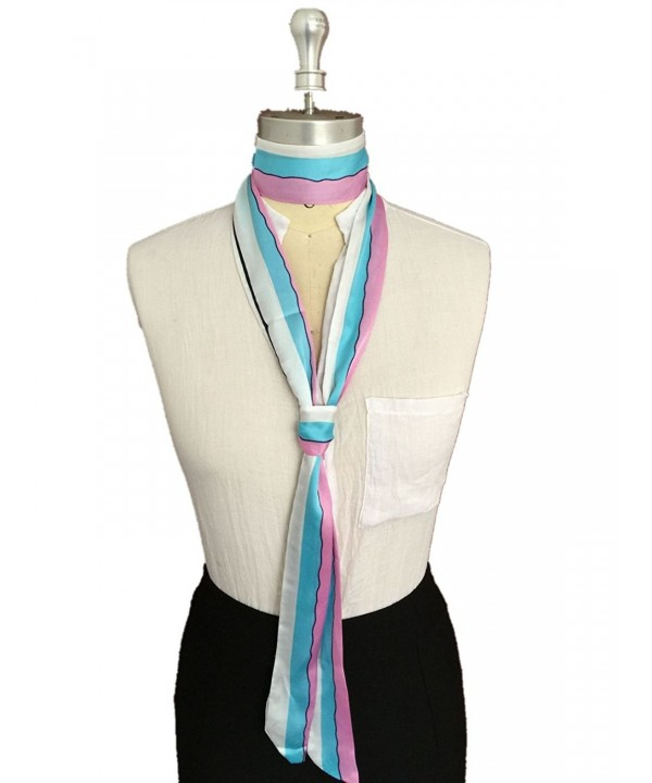 Future Girl Women's Women's Fashion Skinny Tie - Pink Plus Blue-1 - CJ1884M0KZN
