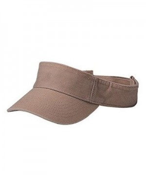 YOUTH COTTON TWILL WASHED VISOR - Khaki - CQ110BA22LP