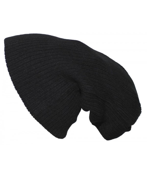 Pro Company Extra Long Knitted Beanie Hat Black - CH11GZW7331